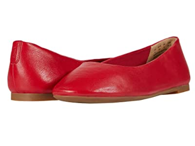 Hush Puppies Kendal Ballet PF (Fire Red Leather) Women