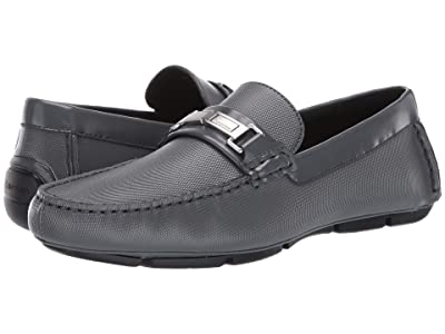Calvin Klein Karns (Grey Emboss Leather/Box Leather) Men