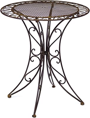 iron cream//white antique style aubaho Beautiful garden table