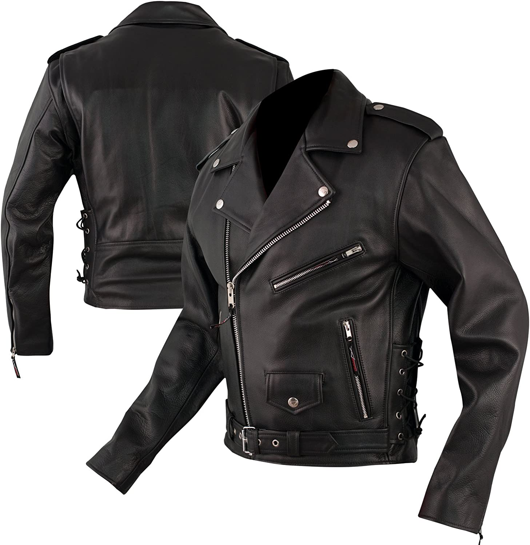 Selling rankings Marlon Brando Quality Leather Jacket Motorcycle Arlington Mall Cruiser Ap Retro