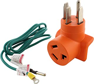 AC WORKS [AD14501030] 14-50P 50Amp 4-Prong Plug to 10-30R 3-Prong Dryer Outlet