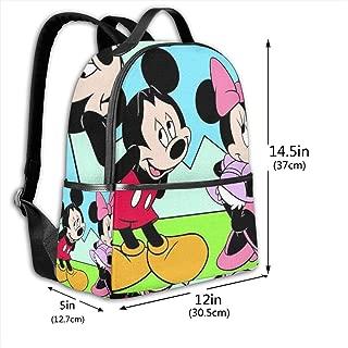 Classic School Backpack Shy Mickey Unisex College Schoolbag Travel Bookbag Black