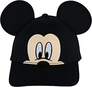 Jerry Leigh Disney Kids' Mickey Mouse Big Face Baseball Cap with 3D Ears