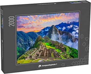 """Puzzle 2000 pièces """"Machu Picchu, Cusco, Pérou : Vue d'ensemble de la ville inca perdue de Machu Picchu, des terrasses agr..."""
