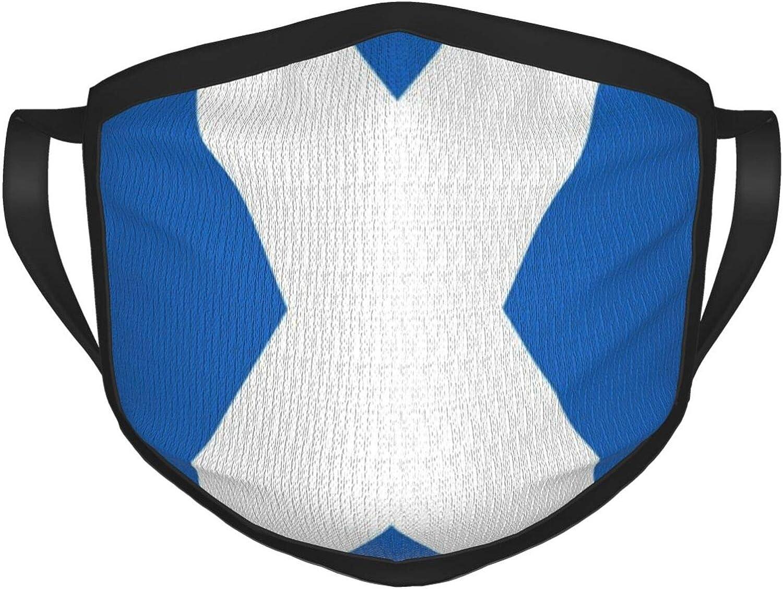 LANJYF 2 Packs Dust Mouth Wear, Scotland Flag Unisex Face Cloth
