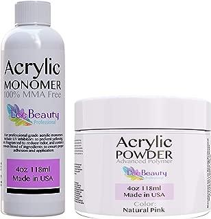 Professional Monomer liquid and Polymer Powder Acrylic Nail Kit for Doing Acrylic Nails. MMA free. Natural Pink Color