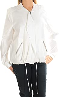 NYDJ Womens White Zip Up Jacket AU Size:18