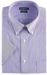 Croft & Barrow Mens Classic Fit Short Sleeve Button-Down Dress Shirt Sizes Purple