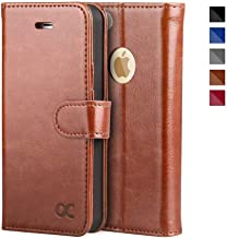 OCASE iPhone 5S Case iPhone 5 Case iPhone SE Case [Kickstand] [Card Slot]Leather Wallet Case [Slim Fit] - For Apple iPhone 5 / 5S / SE Devices - Brown