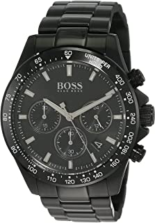 Hugo Boss Mens Quartz Wrist Watch, Chronograph and Stainless Steel- 1513754