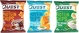 Quest Protein Chips - Variety - 30 Count (BBQ, Cheddar and Sour Cream, Sour Cream and Onion)