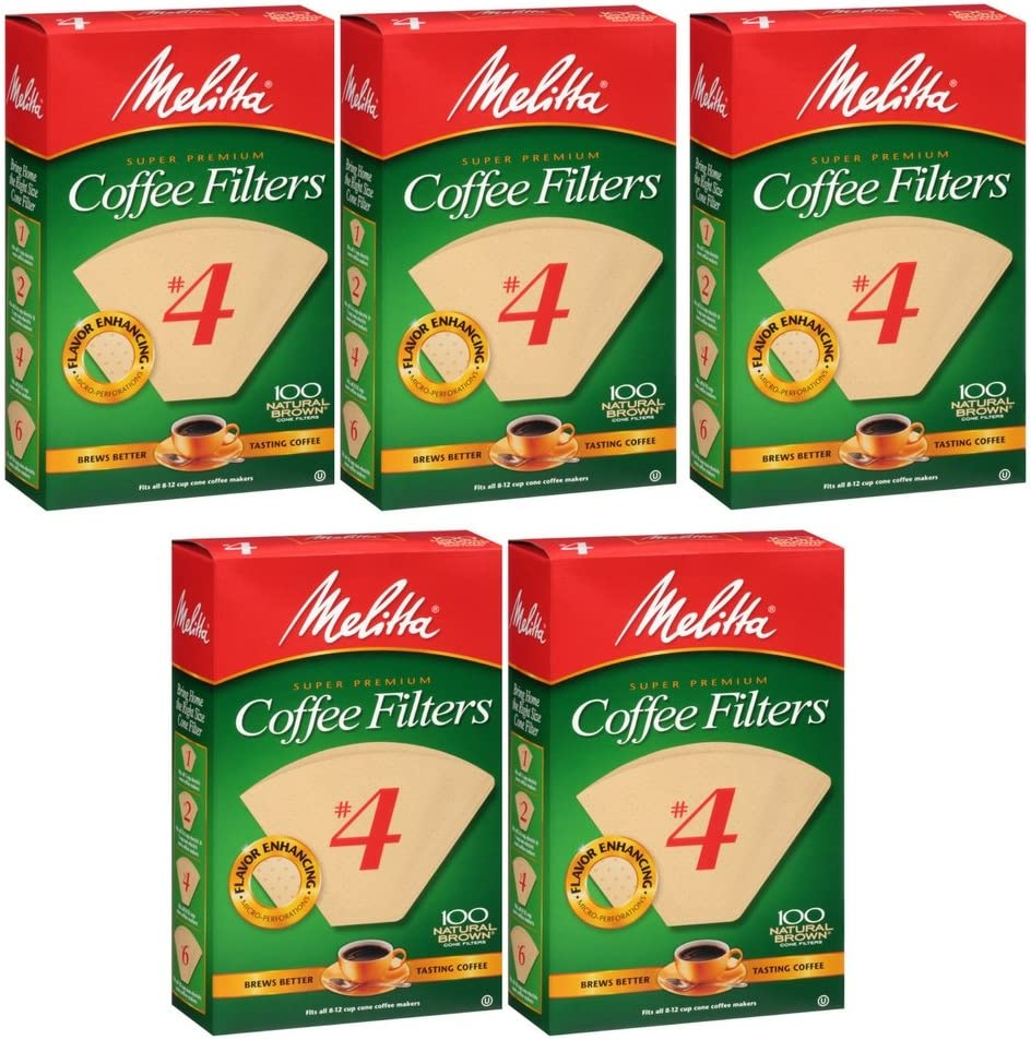 Melitta Cone Coffee Filters Natural Brown count 5 #4 Philadelphia Max 81% OFF Mall 100