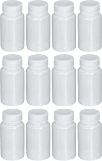 Azlon 301665-0004 LDPE Wide Mouth Plastic Lab Sample Bottle, 125 ml/4 oz Capacity (Pack of 12)