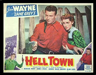 Hell Town (R-1950) Authentic John Wayne 11x14 Lobby Card #2 Movie Poster