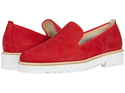 Paul Green Cailey Loafer (Red Nubuck) Women