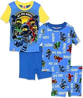 LEGO Ninjago Boy's 4 Piece Cotton Pajamas Set (Little Kid/Big Kid)