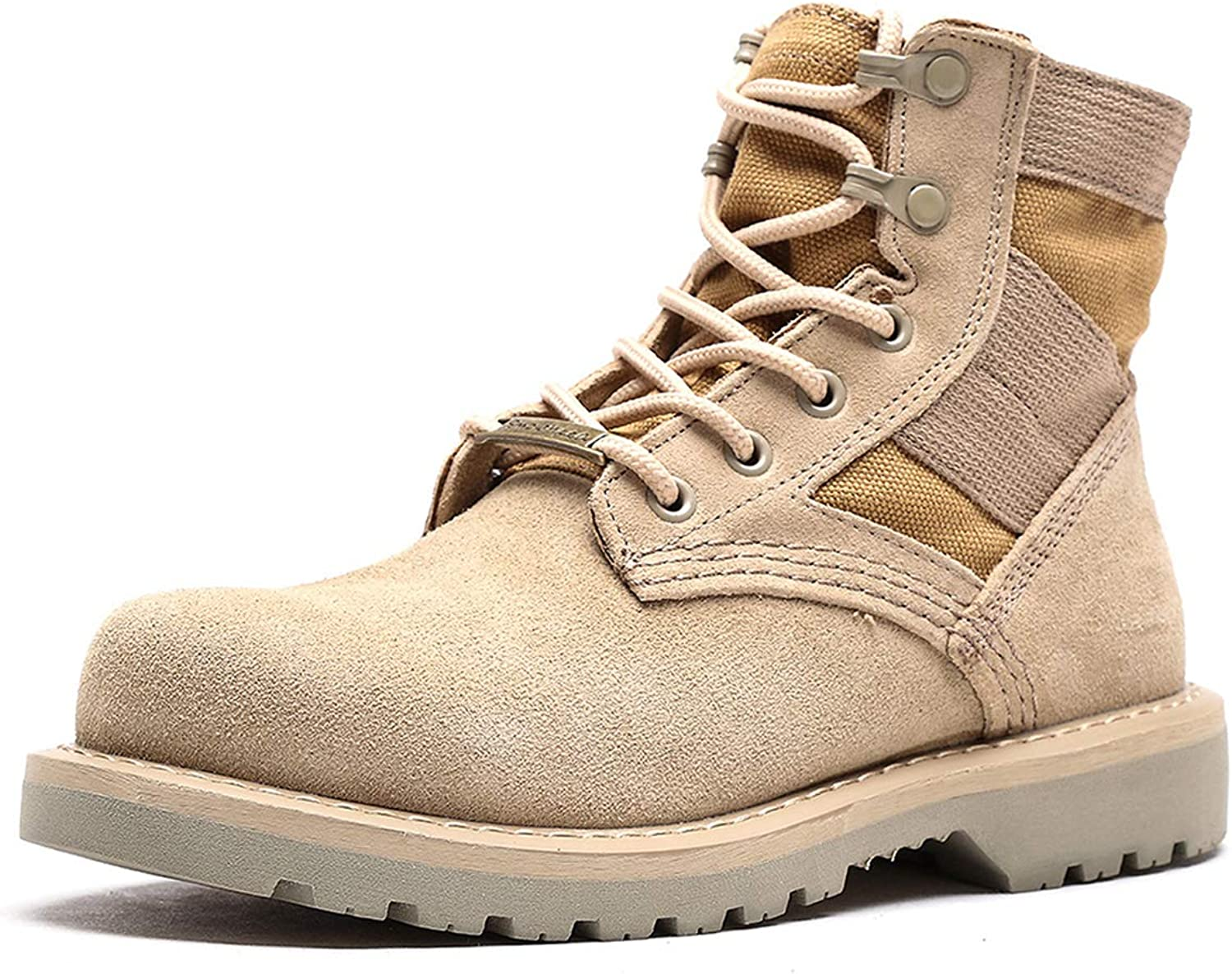 Unisex Desert Boots Leather Couple Martin Boots Boots Boots High-top Low-slip Non-slip Outdoor shoes