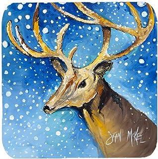 "Caroline's Treasures JMK1206FC Reindeer Foam Coaster (Set of 4), 3.5"" H x 3.5"" W, Multicolor"