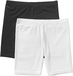 2da5600f1e0a28 Faded Glory Girls' 2-Pack Covered Waistband Underskirt Panty - Black/White