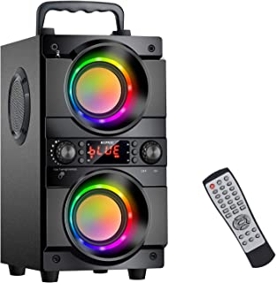 60W (80W Peak) Portable Bluetooth Speaker with Double...