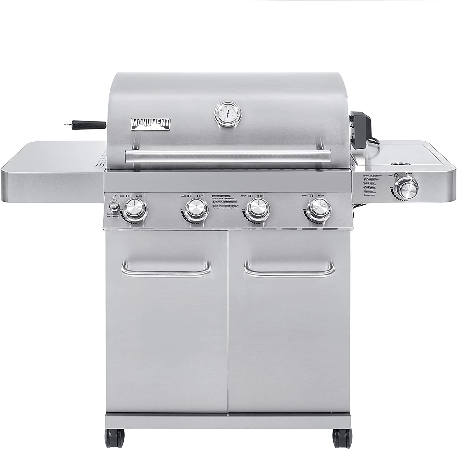 Monument 希少 Grills 17842 Stainless Steel Grill Burner クリアランスsale!期間限定! Propane 4 Gas