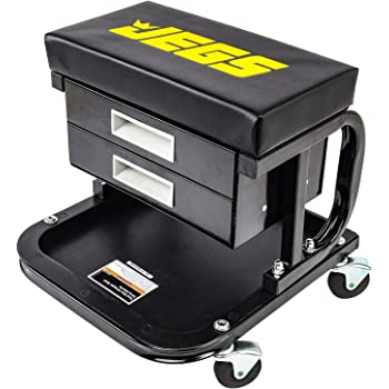 JEGS 81168 Mechanic Seat Capacity: 300 lbs. Seat Height: 14 in. Padded Seat: 14