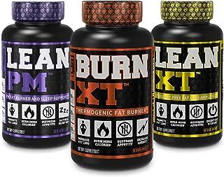 Burn-XT Thermogenic Fat Burner, Lean PM Nighttime Fat Burner & Sleep Aid, Lean-XT Caffeine Free Fat Burner