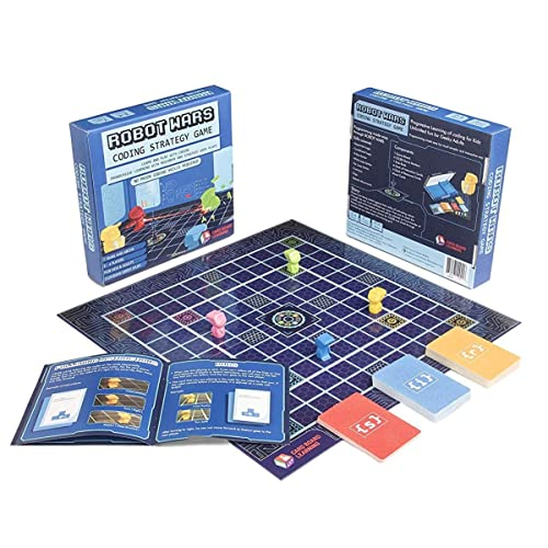 Robot Wars Coding Strategy Board Game Geeky STEM Toy - No Prior Coding Skills Required