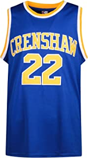 MOLPE Quincy McCall 22 Crenshaw High School Blue Basketball Jersey, 2-Layer Stitched Letters and Numbers