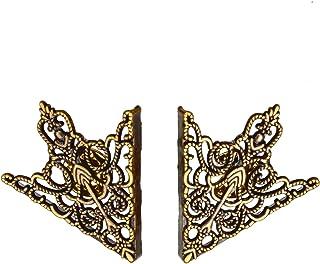 Collar Tips - Punta a freccia dorata, con motivo a tralci