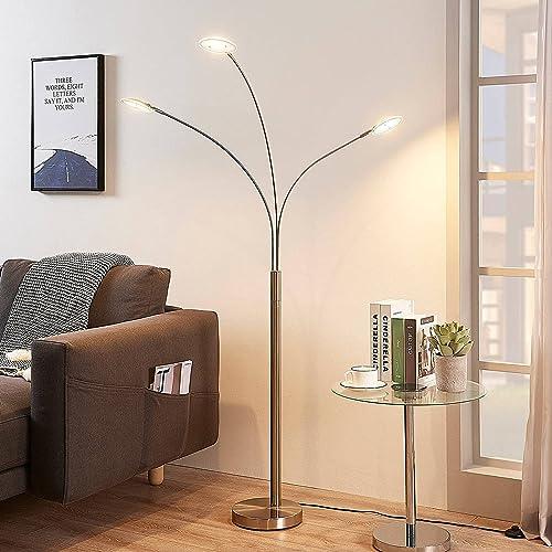 LED Lampadaire 'Anea' (Moderne) en Gris en Métal e. a. pour Salon & Salle à manger (à 31 lampes, A+) | Lampadaire Sur...