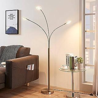 LED Lampadaire 'Anea' (Moderne) en Gris en Métal e. a. pour Salon & Salle à manger (à 31 lampes,) | Lampadaire Sur Pied, L...