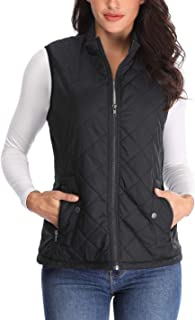 Padded Vest for Women Stand Collar Quilted Gilets Outdoor Jackets Zip up Sleeveless Cotton Coat