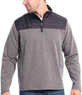 Men's Mixed Media ¼ Zip Pullover