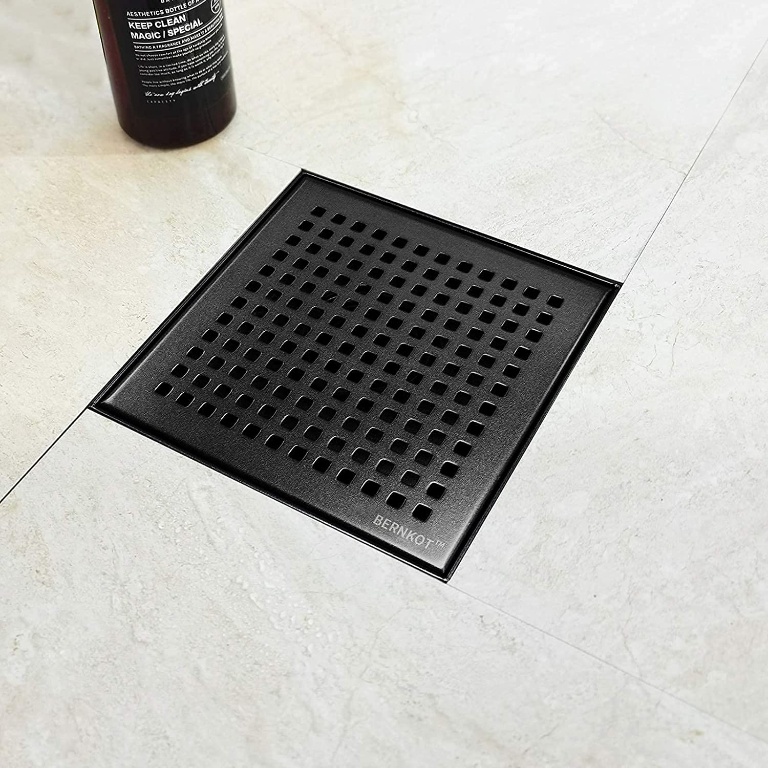 Bernkot Discount is also underway Square Ranking TOP7 Shower Drain Matte Black 304 Inch 6 Ste Stainless