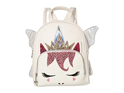 OMG! Accessories Fairy Queen Unicorn Mini Backpack (White) Backpack Bags