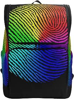 Laptop BackpackFingerprint Biometric RainbowDuffle Backpack for Women Big Casual Fashion Bag