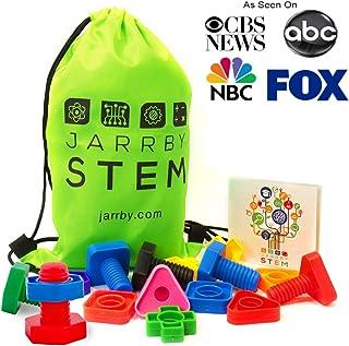 ... Building Construction Set | 16 pc & Storage Bag - Matching Fine Motor Skills for Toddlers Boys & Girls. Juguetes para niños niñas de 1 2 3 4 años