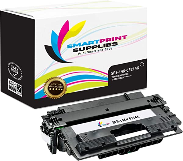 Smart Print Supplies Compatible 14X CF214X Black High Yield Toner Cartridge Replacement For HP Laserjet Enterprise 700 M712 M725 Printers 17 500 Pages