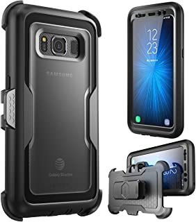 i-Blason Case for Galaxy S8 Active , [Magma] [Full body] [Heavy Duty Protection] Shock Reduction / Bumper Case with Built-in Screen Protector (Not Fit Galaxy S8/S8 Plus)(Black)