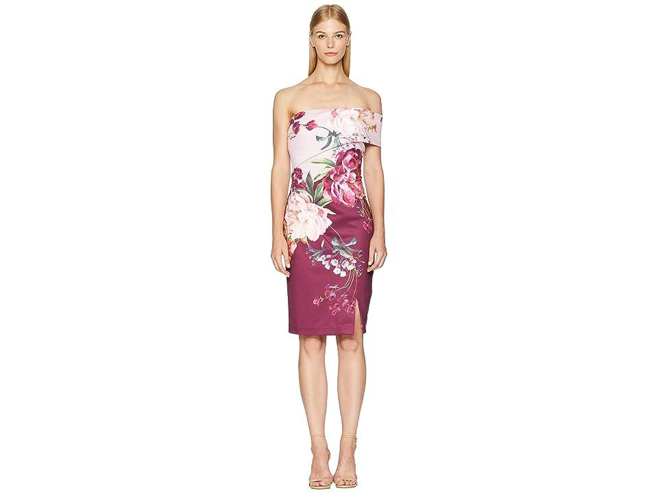 Ted Baker Irlina Serenity One Shoulder Dress (Lilac) Women