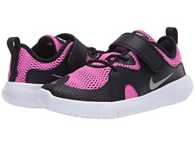 Nike Kids Flex Contact 3 (Little Kid) (Black/Metallic Silver/Active Fuchsia) Kids Shoes