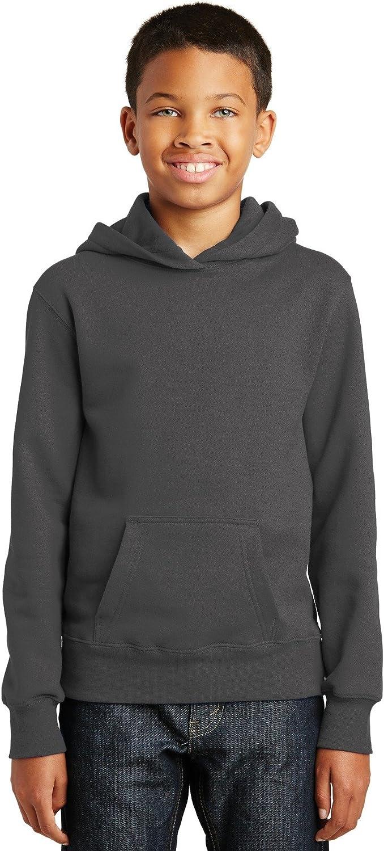 Port & Company Youth Fan Favorite Fleece Pullover Hooded Sweatshirt. PC850YH