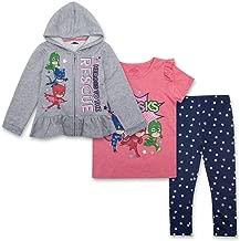 PJ Masks Toddler Girls Set - Catboy, Gekko & Owlette - Owlette Hoodie, T-Shirt & Sweatpants Set