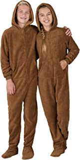 brown fuzzy onesie