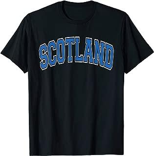 Scotland Varsity Style Blue Text T-Shirt