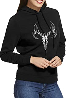 Sponsored Ad - AIMA OILFIELD CAMO DERRICK BUCK Women`s Hoodies With No Pocket - Pullover Active Sweatshirt - Hoodies Tops