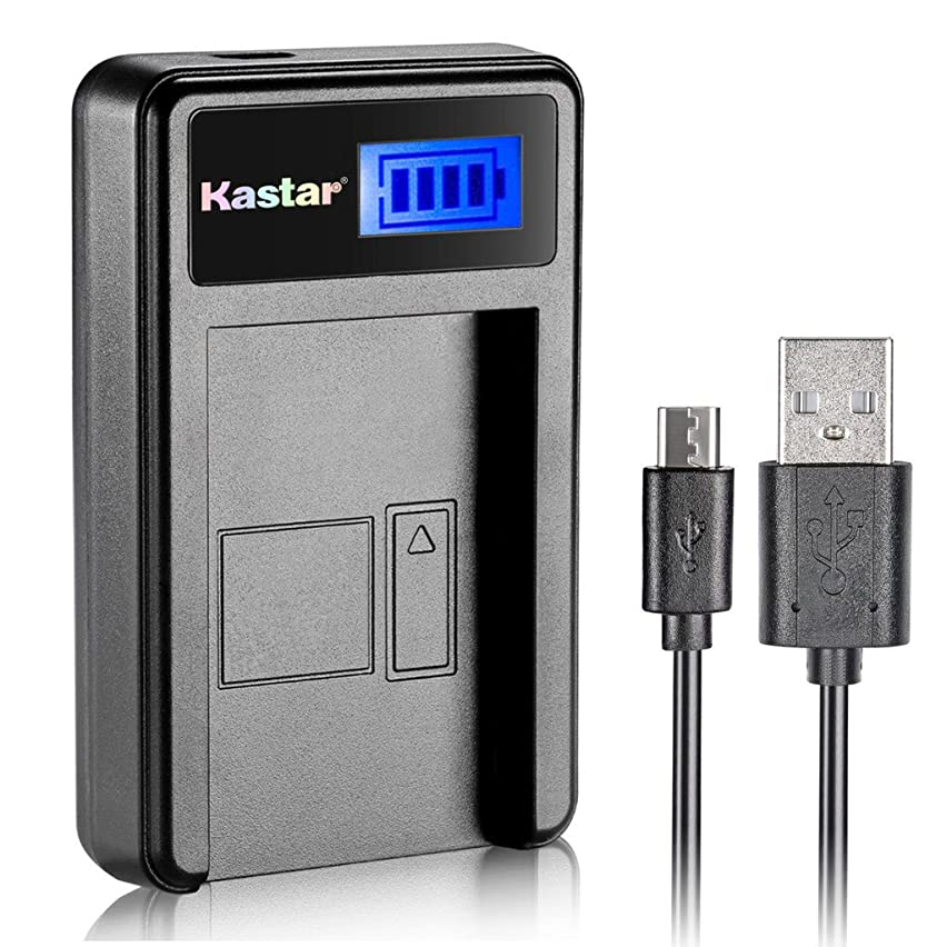 Kastar LCD USB Charger for Casio NP-40 NP40 and Exilim EX-Z400 FC100 FC150 FC160S P505 P600 P700 Zoom EX-Z100 Z1000 Z1050 Z1080 Z1200 Z200 Z30 Z300 Z40 Z450 Z50 Z500 Z55 Z57 PRO EX-Z600 Z700 Z750 Z850