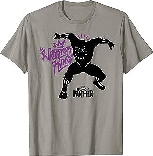 Black Panther Movie King Purple Graffiti T-Shirt