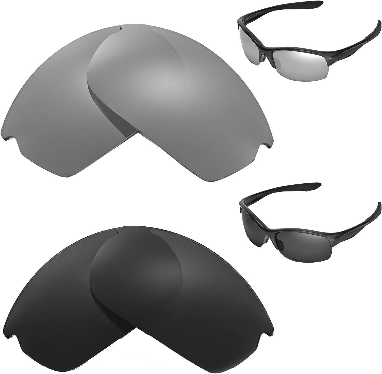 Portland Mall Walleva Jacksonville Mall Polarized Titanium + Black Replacement Oakley Lenses Com